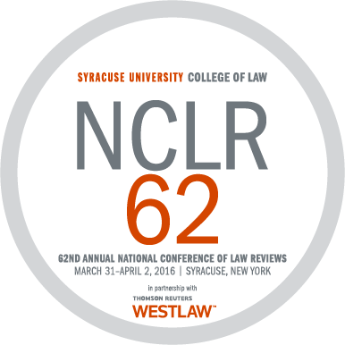 2016 National Conference of Law Reviews